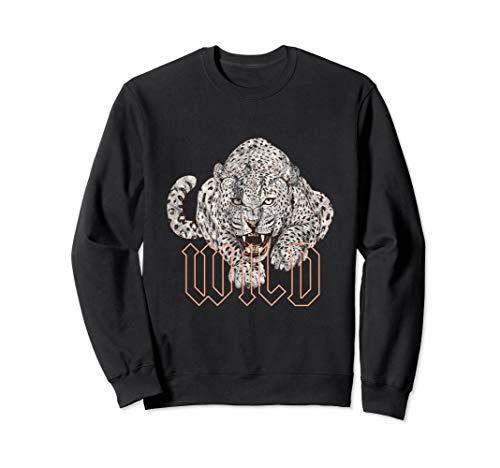 Wild Jaguar Leopard Cheetah Print Graphic Sweatshirt