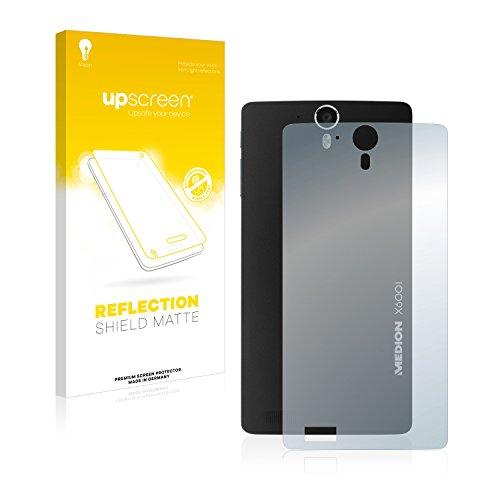 upscreen Entspiegelungs-Schutzfolie kompatibel mit Medion Life X6001 (MD 98976) (Rückseite) – Anti-Reflex Bildschirmschutz-Folie Matt