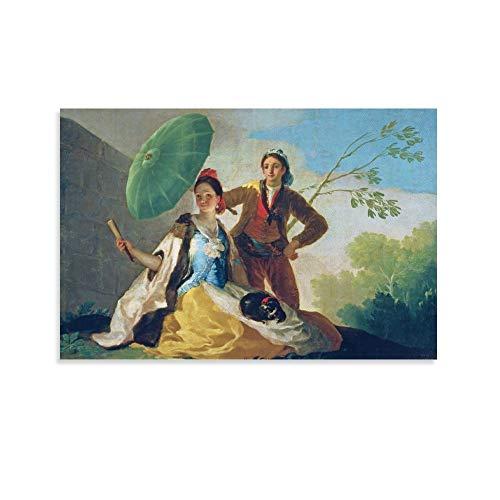 XYDQ Francisco De Goya Poster mit Sonnenschirm, dekoratives Gemälde, Leinwand, Wandkunst, Wohnzimmer, Poster, Schlafzimmer, 50 x 75 cm