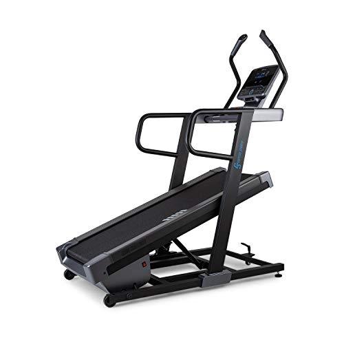 Capital Sports Challenger Laufband, elektrisch anpassbare Steigung bis 40°, LCD-Display, Kinomap, Lauffläche: 46 x 140 cm, Geschwindigkeit: 0,8-18 km/h, Pulssensoren, 13 Programme, schwarz