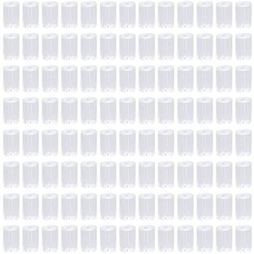 Tuercas de Pendientes, 1000 piezas Silicona Claro Octágono Tapas de Pendientes con Caja de Plástico, para Pendientes de Mujer Espárragos Accesorios Joyería Fabricación de Pendientes