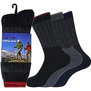 JARSEEN 3 Paar Wandersocken Trekkingsocken Atmungsaktiv Sportsocken Hochleistung für Herren (3Paar, 39-45)