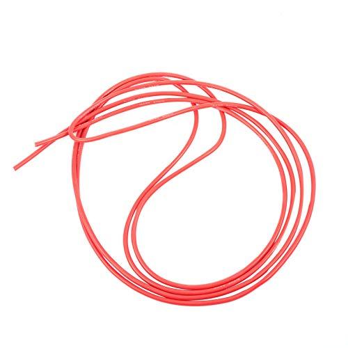 ibasenice Alambre Eléctrico 12 Awg - Alambre de Silicona de 3 M Alambre de Cable Aislado - Resistencia a Altas Temperaturas Caucho de Silicona Suave Flexible Cobre