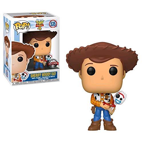 Funko Pop! Disney Pixar: Toy Story 4 – Woody and Forky – Figura realizada en Vinilo y de Unos 9 cm de Altura (Exclusivo Reino Unido)