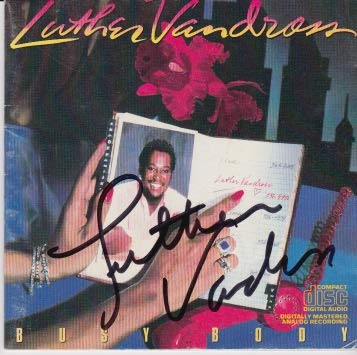 Luther Vandross signed CD
