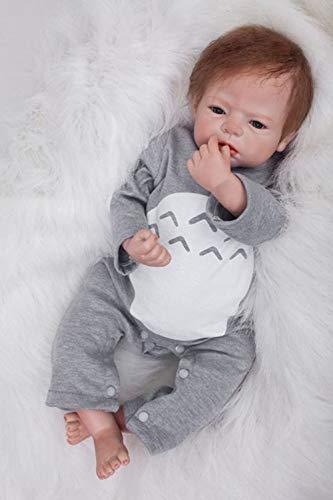 LIDE 22 Pulgadas 55 cm Reborn Muñecas Muñecos Bebé Baby Dolls Silicona Vinilo Recien Nacido Chicos Ojos Abiertos Real Niños Juguetes Magnética
