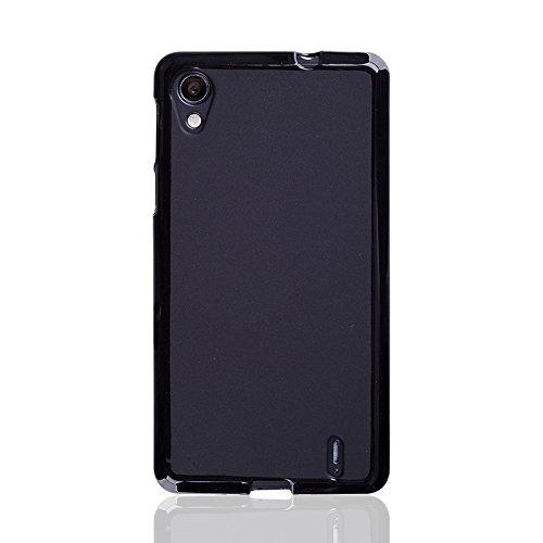 caseroxx TPU-Hülle & Bildschirmschutzfolie für Medion Life E4005 MD 99253, Set (TPU-Hülle in schwarz)