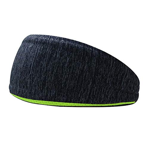 Lorenory Hoofdband voor mannen en vrouwen, 2 stuks, silicone, anti-slip rubber, zweetband