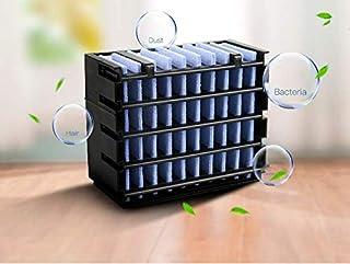 Yeelight Mini aire acondicionado personal, aire acondicionado portátil, 2 en 1, enfriador de aire, ventilador, humidificador, ambientador con 3 velocidades, 7 colores, LED Air Cooler para dormitorio
