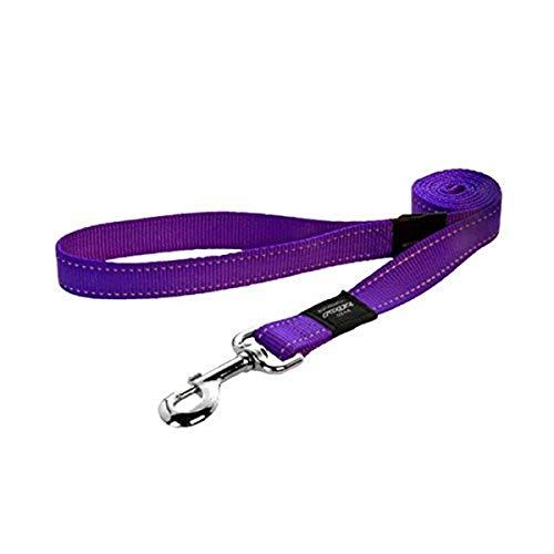 Rogz Hundeleine, reflektierend, 3,5 cm lang, 45,7 cm, Größe XXL, Violett