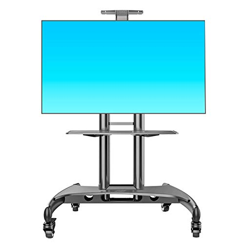 SHIJINHAO Universal Swivel TV Floor Stand With Bracket For 32-65 Inch LCD/LED Smart TV Screen Up To 50kgs, Height Adjustable Cable Management TV Mount Stand With Base