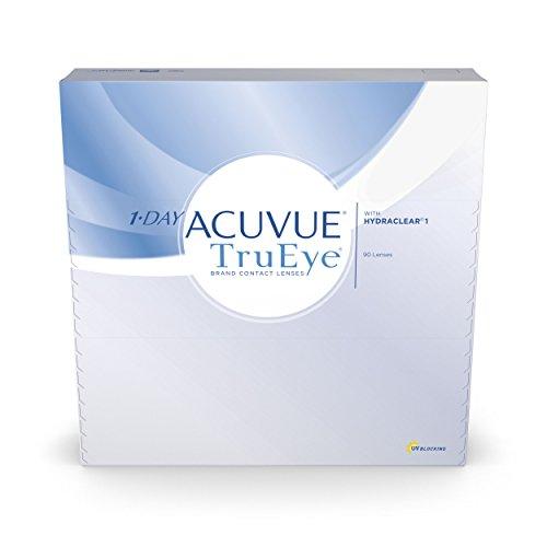 ACUVUE 1-DAY TruEye Tageslinsen – Tageskontaktlinsen mit -2,5 dpt & BC 8.5 – UV Schutz & hoher Tragekomfort – 90 Linsen