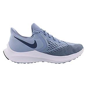 Nike Women's Air Zoom Winflo 6 Running Shoes (8, Indigo/Blue-Platinum)