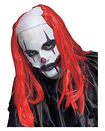 Griezelige Horror Clown Pruik Rood