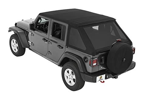 Bestop 5686335 Black Diamond All-New Trektop Soft Top 4-door for the Jeep Wrangler JL