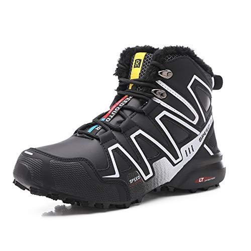 Kauson Stivali da Neve Uomo Trekking Inverno Scarpe Impermeabili Antiscivolo Outdoor Pelliccia Sneakers Stivali da Escursionismo da Uomo Scarponcini da Uomo