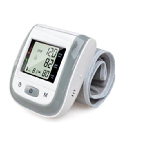 XSQRXYQ Cuidado de la Salud automático muñeca Monitor de presión Arterial Digital LCD muñeca Manguito medidor de presión Arterial tonómetro,Gray