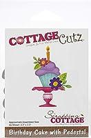 """CottageCutz Dies-Birthday Cake W/Pedestal, 2.2""""X3.3"""""""