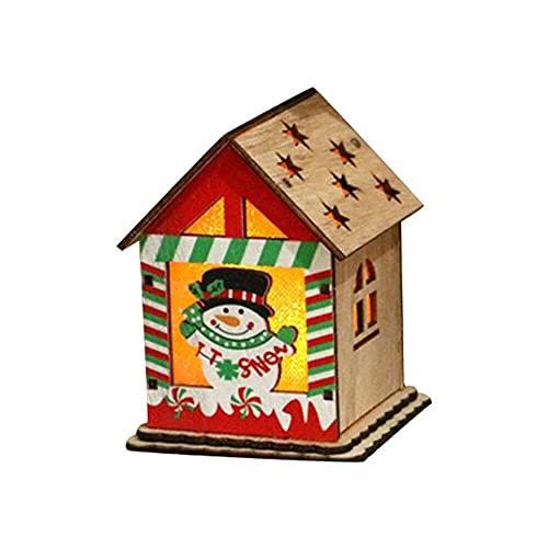 jiabushu shop Lámpara LED creativa, colgante de árbol de Navidad, estrella, coche, corazón, decoración de madera, Navidad, fiesta, Año Nuevo