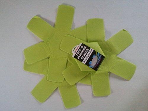Pannbescherming set van 3 groen, van zacht vlies, diameter 37,5 cm, dikte 1,5 mm