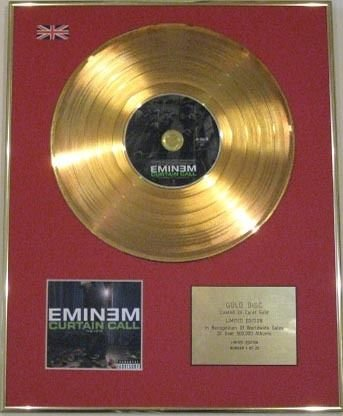 Century Music Awards Eminem Edtn 24 Karat CD Gold Disc