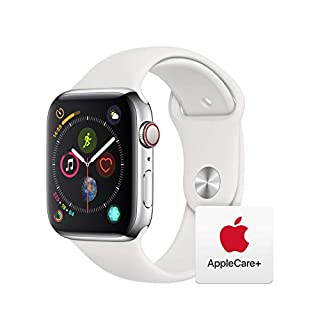 AppleWatch Series4 (GPS+Cellular, 44mm) - Stainless Steel Case with White Sport Band with AppleCare+ Bundle (B07RMRW2BQ) | Amazon price tracker / tracking, Amazon price history charts, Amazon price watches, Amazon price drop alerts