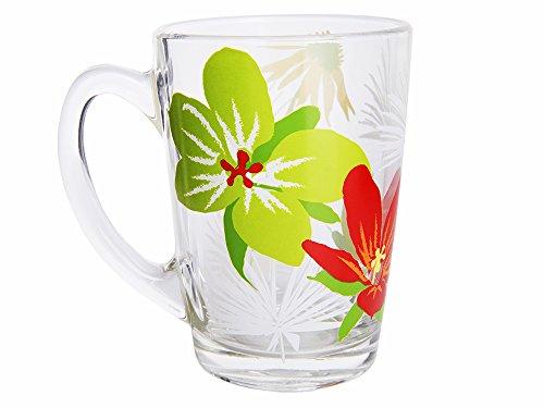 Dajar Mug New Morning pimprinelle 320 ML, Verre, Rouge/Vert/Transparent/Multicolore, 8 cm cm