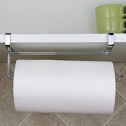 OHHCO Portarrollos de papel higiénico de acero inoxidable con ventosas fuertes para toallas de baño, soporte para rollos de papel de baño, soporte para pared de pañuelos de cocina, colgador de papel