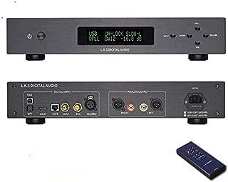 L.K.S Audio MH-DA004 Dual ES9038pro Flagship DAC DSD Input Coaxial BNC AES EBU for DOP USB I2S Optical Audio Decoder (Black Upgraded USB Version)