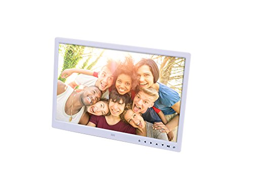 DishyKooker 15 inch Digital Picture Photo Frame 1280x800 HD Resolution 16:9 Wide Picture Screen Clear and Distinct Display White UK Plug Electronic Cell Phones Accessories for Travel/Work