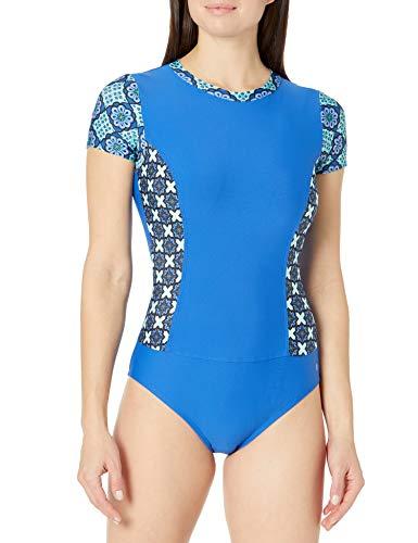 next Damen Vinyasa ONE Piece Einteiliger Badeanzug, blaugrün, Medium