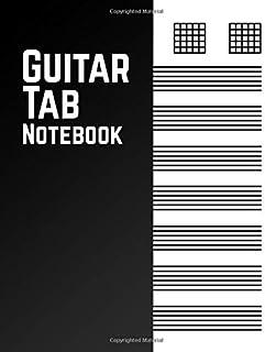 Guitar Tab Notebook: Blank Guitar Manuscript Journal   Perfect for Guitar Players and Musicians