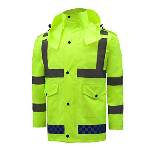 XXHDEE waterdichte regenjas met reflecterende regenjas voor het verkeer, fluorescerende jas, veiligheidsvesten