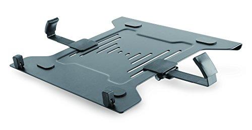 ICY BOX IB-MSA101-LH Laptophalterung oder Tablethalterung, Zubehör für VESA 75x75 & 100x100 Befestigung, Breite verstellbar, Fixierung, Stahl