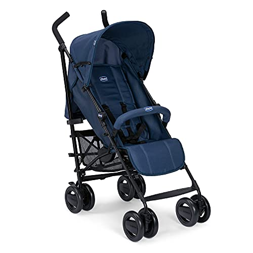 Chicco London Up Leichter Zusammenklappbarer Kinderwagen von 0 Monaten bis 15 kg, Verstellbarer und Kompakter Kinderbuggy mit Frontbügel, Schlafposition, Regenschirmverschluss