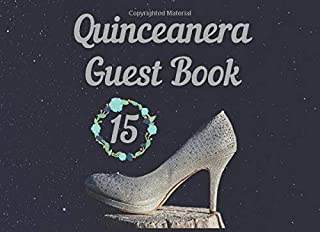 Quinceanera Guest Book: 15th Birthday party wishes book to write in