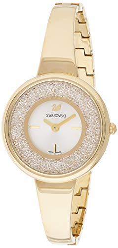 Swarovski Crystalline Pure Damen-Armbanduhr 34mm Gold Schweizer Quarz 5269253