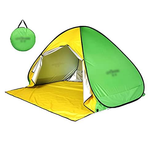 BBGS Tienda de Playa Pop Up, 2-3 Personas Anti-UV Protección Ventilación Portátil Ligero Impermeable Anti Vient Tienda para Playa Parque Pescar Patio, 200x160cm (Color : Style 2)