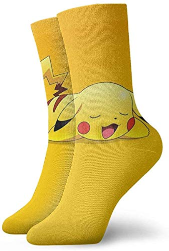 zsxaaasdf Youth Sports Socks,Cute Poke-mon Pika-chu Crew Socks Outdoor Socks For Gilrs And Boys 2861