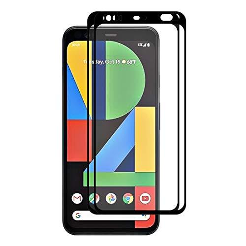 Teléfono Funda Protectora para teléfono para Google Pixel 4 XL 2 PCS Hat-Prince Glue Full 0.26mm 9h 2.5d Vidrio Templado Cobertura Completa