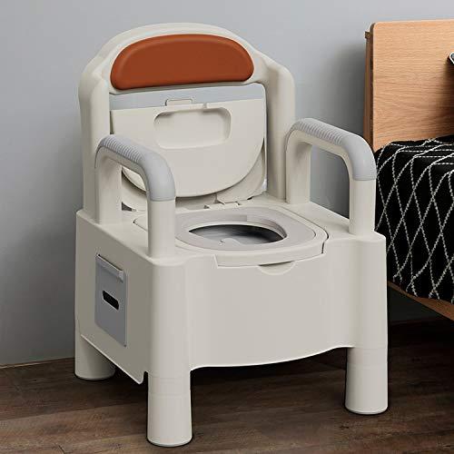 RUIVE Tragbare Toilettenstuhl für Erwachsene, Mobile Toiletten-Sitzhocker-Wechsel-Kniebeugengrube, Toiletten-Töpfchen mit abwaschbarem Korb und Toilettenpapierhalter