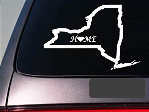 New York home 6' sticker state outline home map decal vinyl computer Sticker