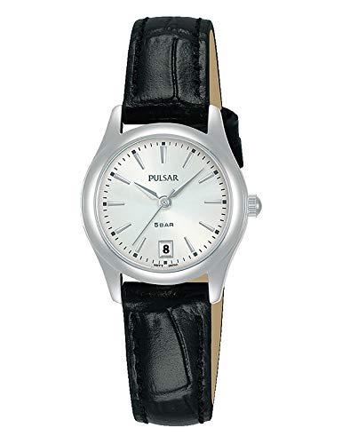 PULSAR Damen Analog Quarz Uhr mit Leder Armband PH7537X1