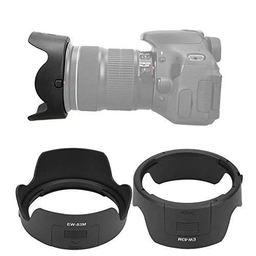 Archuu EW-83M Tulip Flower Lens Hood Capucha de la Lente de la cámara Se Adapta para Canon EF 24-105mm f/3.5-5.6 IS STM Reemplazo de la Lente, Negro