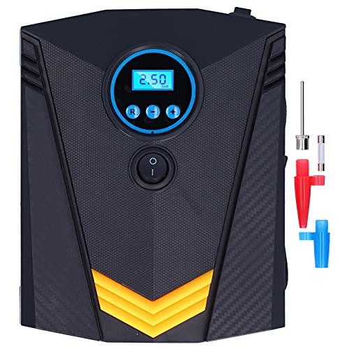 Compresor de aire portátil para inflar neumáticos, bomba de neumáticos de coche de 12 V CC con manómetro digital, luz LED, bomba de aire eléctrica para neumáticos de coche, bicicletas y otros inflable