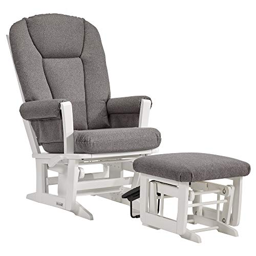 Dutailier Modern 0410 Glider Multiposition-Lock Recline with Nursing Ottoman Included
