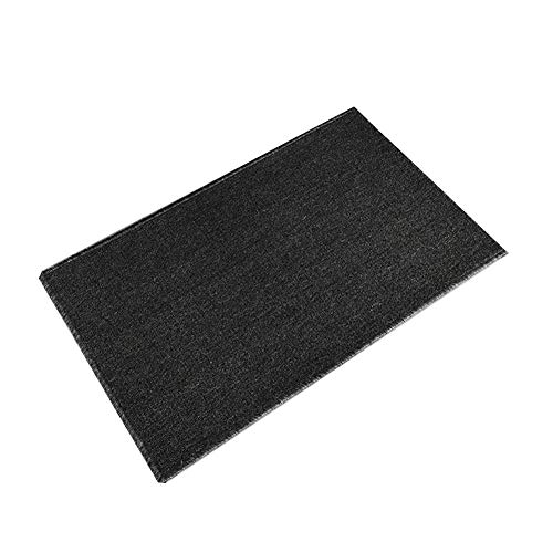 Inconnu Tapis d'entrée Tapis de Cuisine Paillasson Absorption d'eau Tapis de Pied Chambre Tapis antidérapant Black- 110 * 50cm