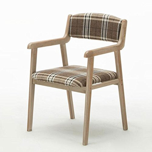 Pride S Moderne eenvoudige vintage dining stoel van massief hout restaurant armleuning casual stoel voor volwassenen computer bureau stoel