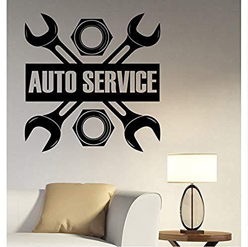 57X58Cm Autoservice Logo Wandtattoo Vinyl Aufkleber Reparatur Bushaltestelle Schild Garage Wanddekoration Fenster Abnehmbare Dekoration