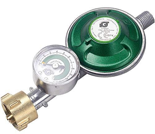IGT Gasregler mit Manometer Füllstandsanzeige Schlauchbruchsicherung Propangas Druckminderer Druckregler